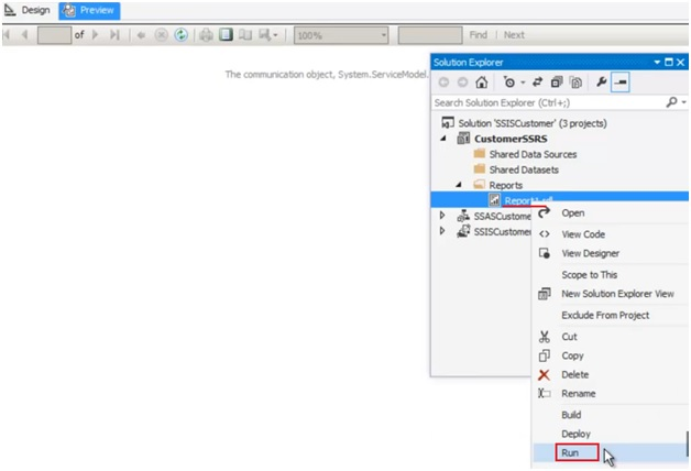 How to run the report generated in SSRS? | Learn MVC